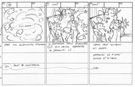 Storyboard série d'animation